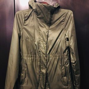 Women's North Face insulated hooded rain jacket